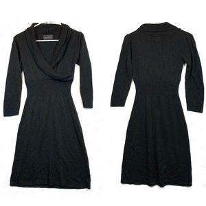 connected apparel black sweater sheath dress Small